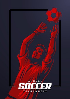 Cartel de portero de fútbol