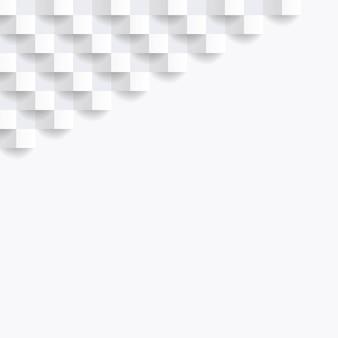 Cartel de presentación de fondo abstracto blanco