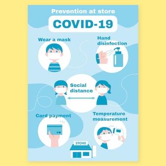 Cartel de prevención de coronavirus