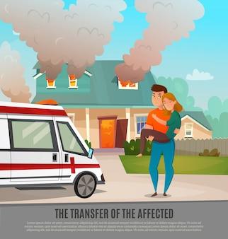 Cartel de primeros auxilios de emergencia para personas