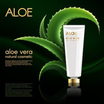 Cartel de producto cosmético natural realista