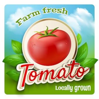 Cartel promo de tomate