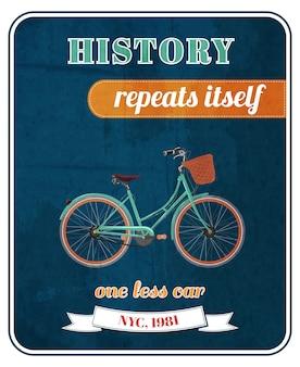Cartel de promoción de bicicleta hipster