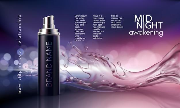 Cartel para la promoción de productos cosméticos hidratantes y nutritivos de primera calidad