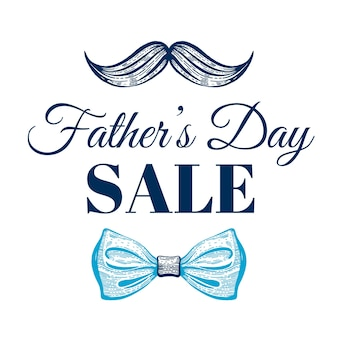 Cartel de promoción de venta de feliz día del padre.