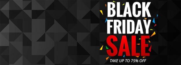 Cartel de promoción de venta de viernes negro o plantilla de banner