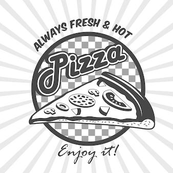 Cartel de publicidad de la rebanada de pizza