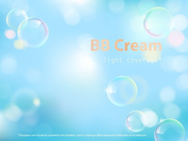 Cartel publicitario de bb cream