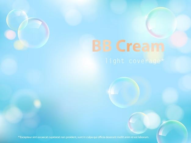 Cartel publicitario de bb cream