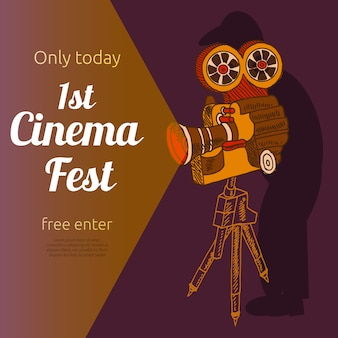 Cartel publicitario festival de cine.