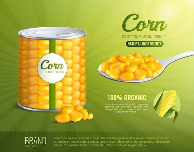 Cartel publicitario de maíz