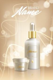 Cartel publicitario para producto cosmético para catálogo
