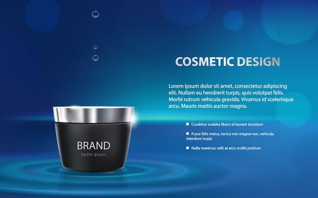Cartel publicitario de un producto cosmético hidratante