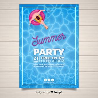 Cartel realista de fiesta de verano