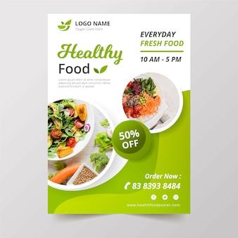 Cartel de restaurante de comida saludable
