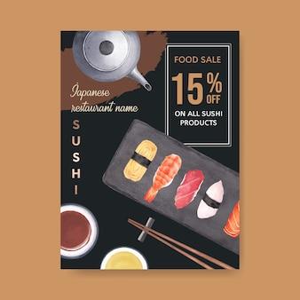 Cartel para restaurante de sushi