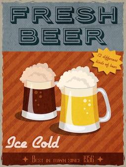 Cartel retro de cerveza