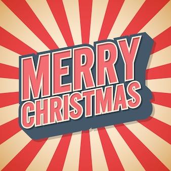 Cartel retro, feliz navidad,