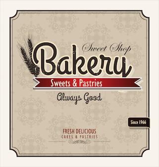 Cartel retro panaderia