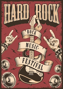 Cartel de rock and roll
