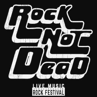 Cartel de rock no muerto