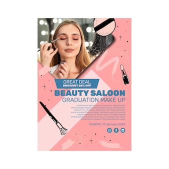 Cartel de salón de belleza