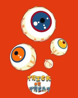 Cartel de saludo de fiesta de halloween en estilo pop art