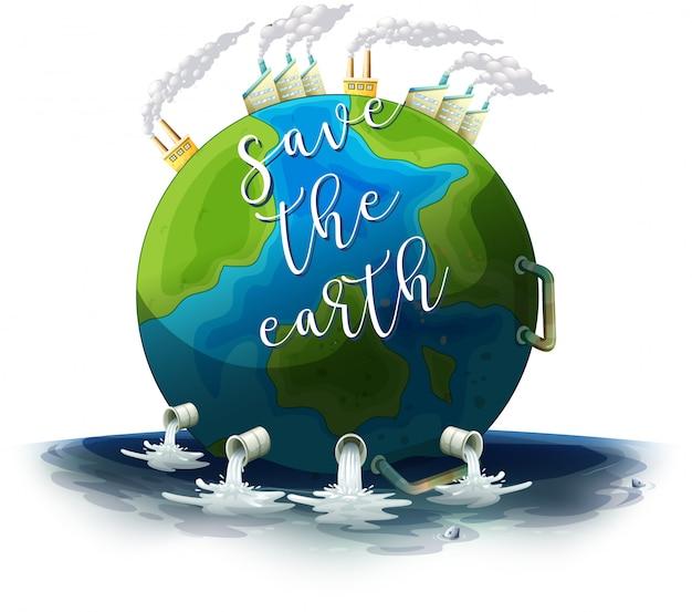 Cartel de salvar la tierra