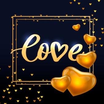 Cartel de san valentín, tarjeta, etiqueta, elementos de lema de carta de banner para elementos de san valentín. tipografía corazón de amor