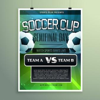 Cartel de semifinal de la copa de fútbol