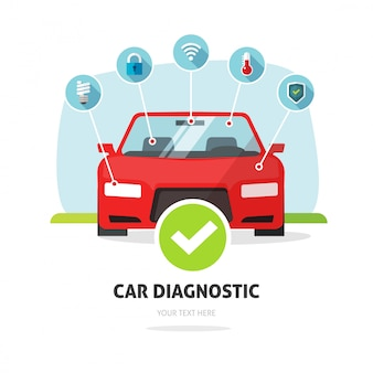 Cartel de servicio de diagnóstico de automóviles