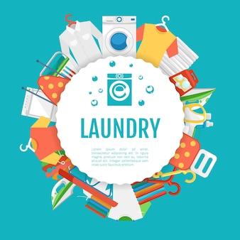 Cartel de servicio de lavandería