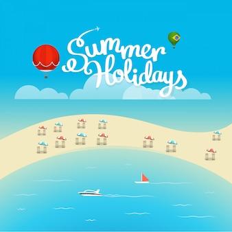 Cartel de la temporada de verano