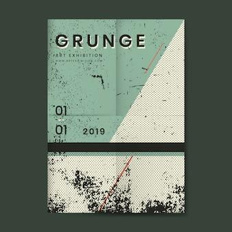 Cartel de textura angustiada grunge