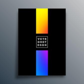 Cartel de textura degradada colorida para papel tapiz, volante, portada de folleto, tipografía u otros productos de impresión. ilustración