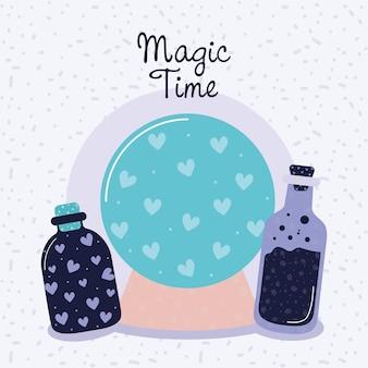 Cartel de tiempo mágico