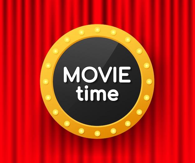 Cartel de tiempo de película. banner de cine