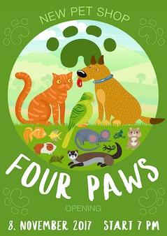 Cartel de la tienda de mascotas