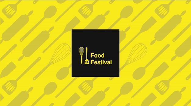 Cartel de tipografía festival gastronómico.