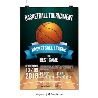 Cartel de torneo de baloncesto