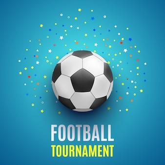 Cartel del torneo de fútbol. pelota.