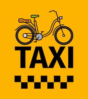 Cartel de transporte de taxi de bicicleta