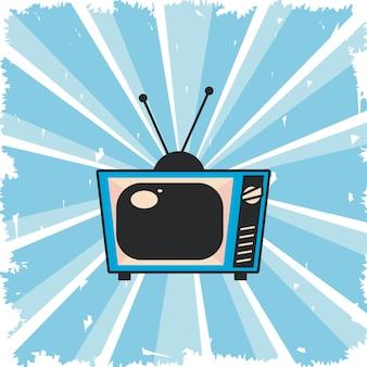 Cartel de tv pop art