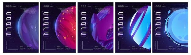 Cartel de vector de exploración espacial