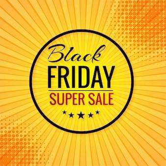 Cartel de venta de concepto de viernes negro para rayos