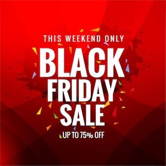 Cartel de venta de concepto de viernes negro en rojo