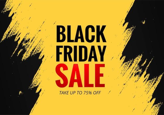 Cartel de venta de concepto de viernes negro