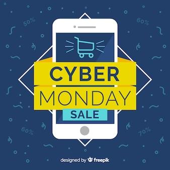 Cartel de venta de cyber monday