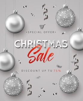Cartel para la venta de navidad.