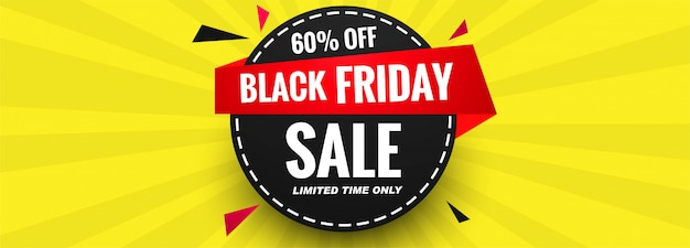 Cartel de venta de plantilla de banner de viernes negro